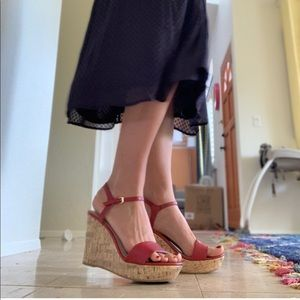 NEW! Red Platform Sandals (Wedges)